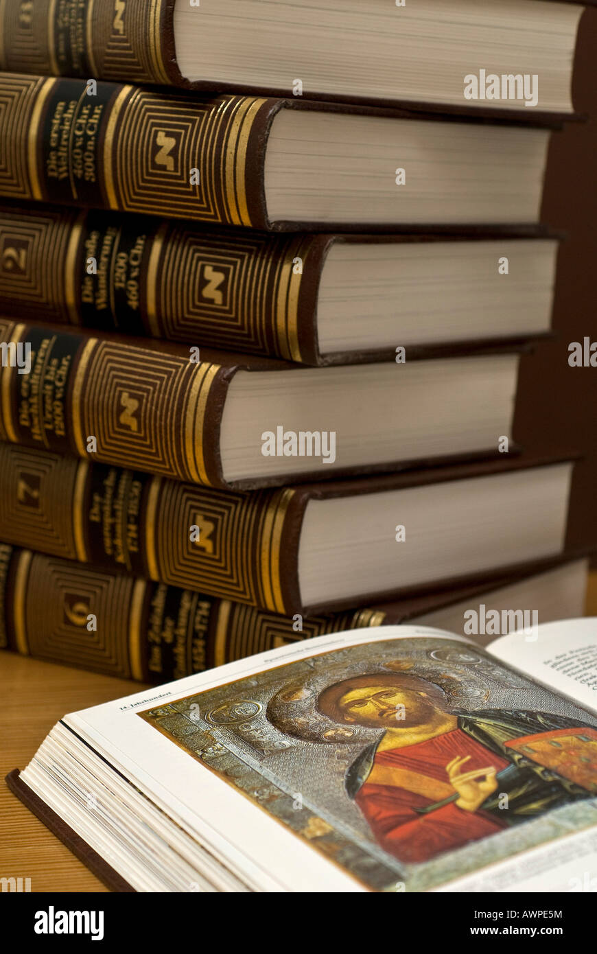 Encyclopaedia, world and cultural history - Stock Image