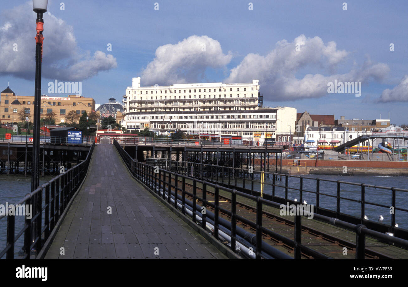 The peer in Southend on sea Essex England - Stock Image