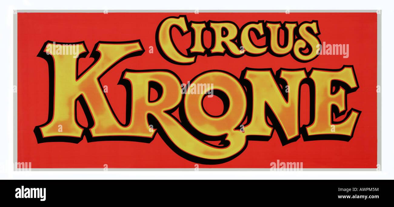Circus Krone logo Stock Photo
