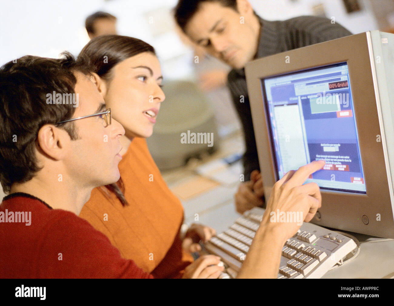 People working in office, close-up - Stock Image