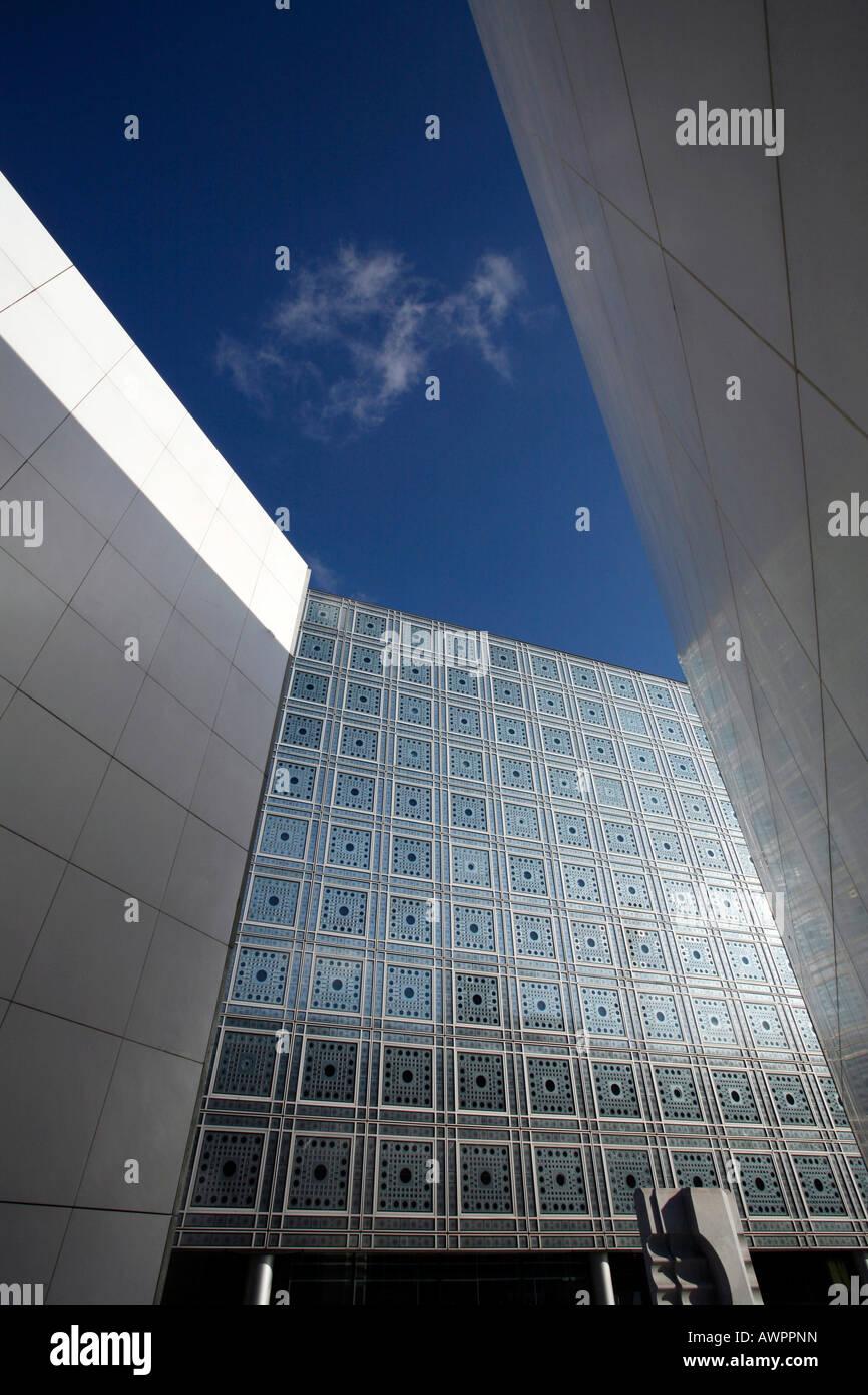 Institut du Monde Arabe building, Quartier Latin, Paris, France, Europe - Stock Image