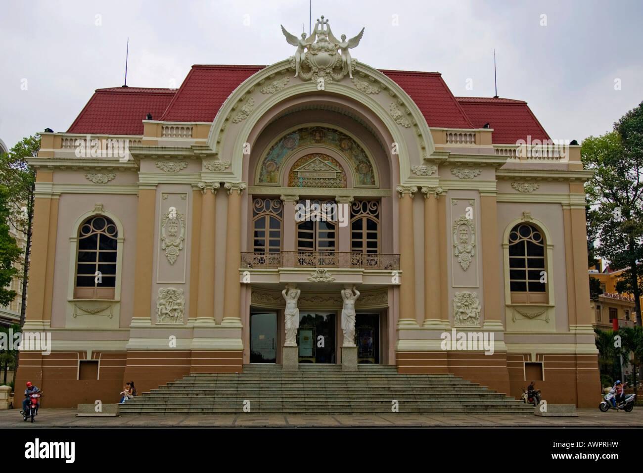 Opera house, Ho Chi Minh City, Saigon, Viet Nam - Stock Image