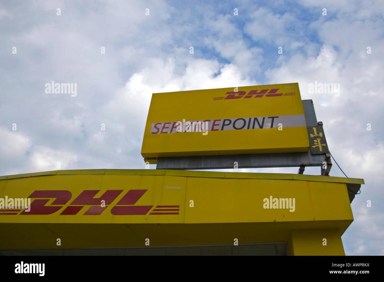 DHL - branch in Pattaya, Thailand, Asia Stock Photo