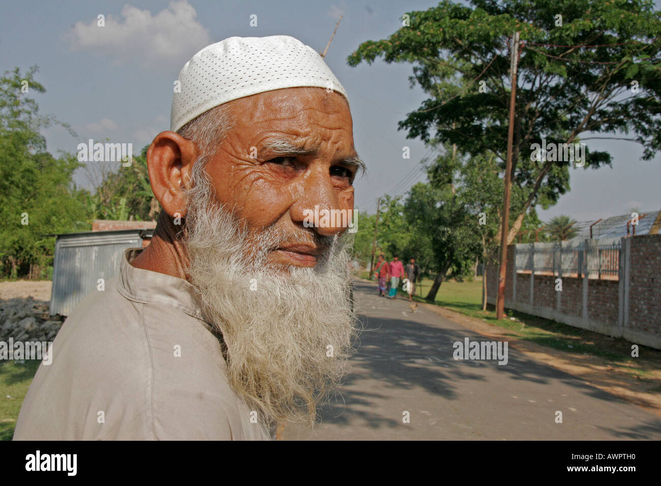 BANGLADESH Old moslem man Mymenisngh photo by Sean Sprague - Stock Image