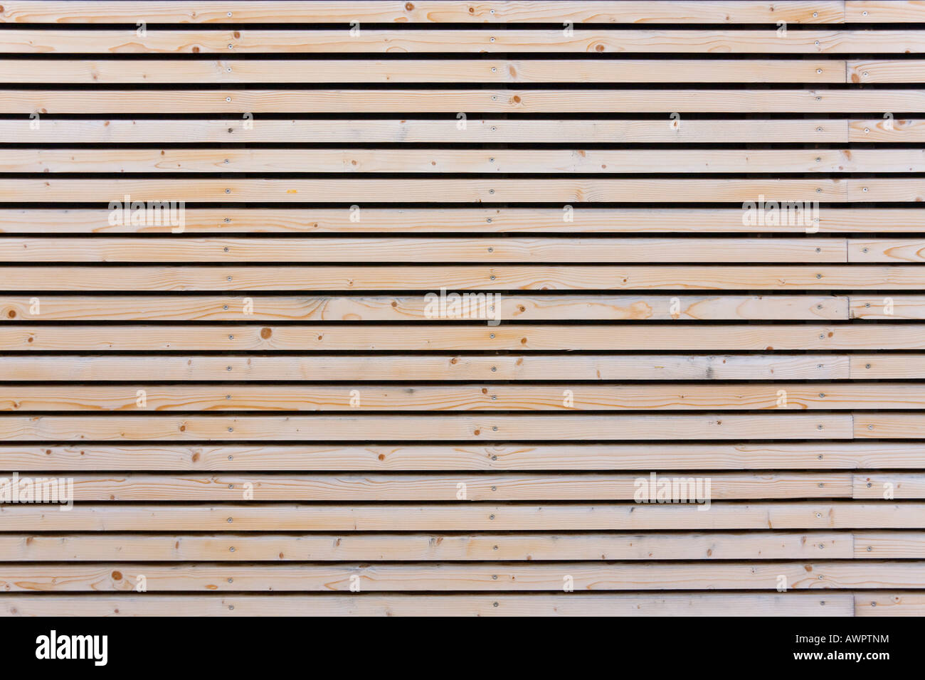 Timber Cladding On The Storefront Of A Building Stock