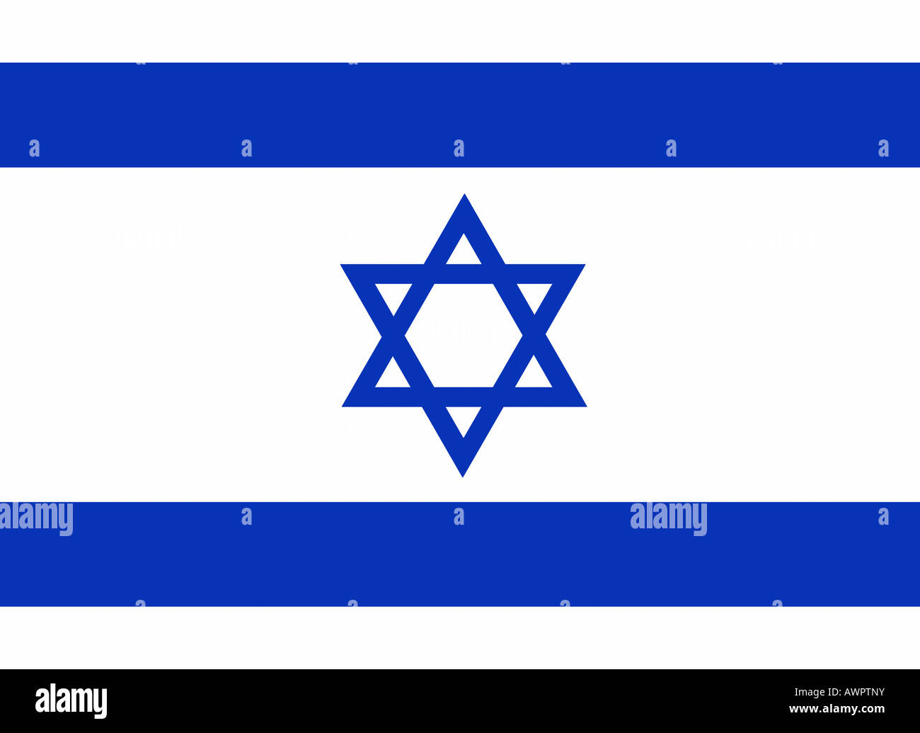 The flag of Israel - graphic Stock Photo