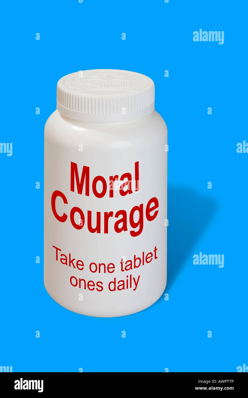 Moral courage as a medicine - symbolic picture - Stock Image