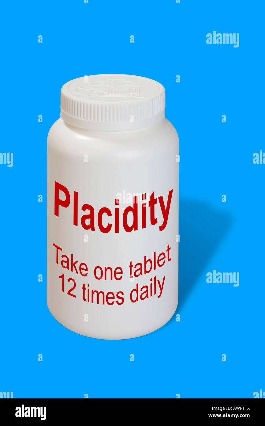Placidity as a medicine - symbolic picture - Stock Image