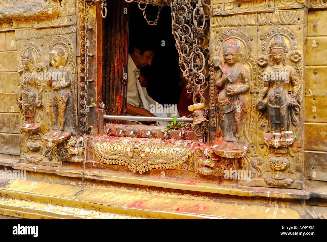 Swayambhunat Temple, Kathmandu, Nepal Stock Photo