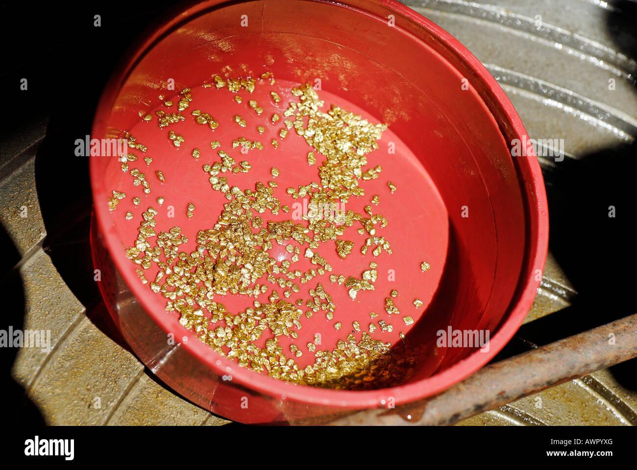 Gold production at Dawson City, Yukon Territory, Canada Stock Photo