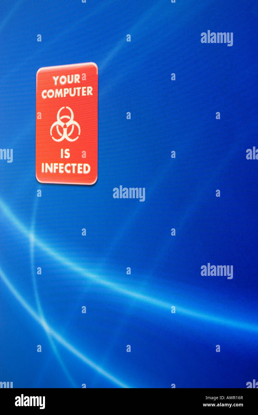 Screenshot, Computer Warning, Your Computer is infected - Stock Image