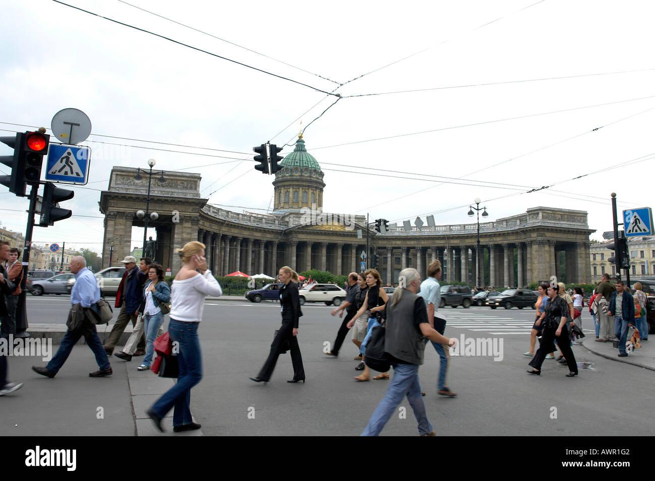 RUSSIA Kazan Cathedral on Nevsky Prospect Saint Petersburg C Sean Sprague 2006 Stock Photo