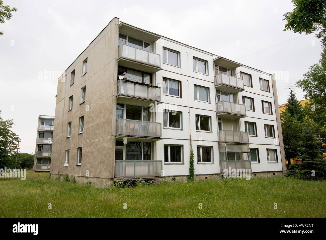Preconstructed buildings, Chomutov, Czech Republic Stock Photo