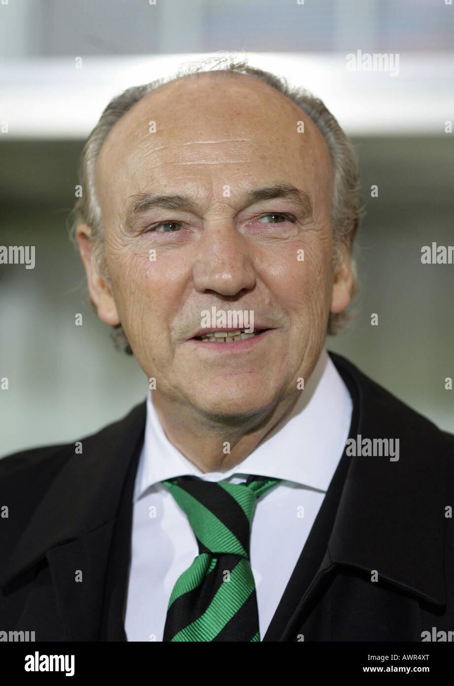 President of the german soccer club Borrussia Moenchengladbach Rolf Koenigs Stock Photo