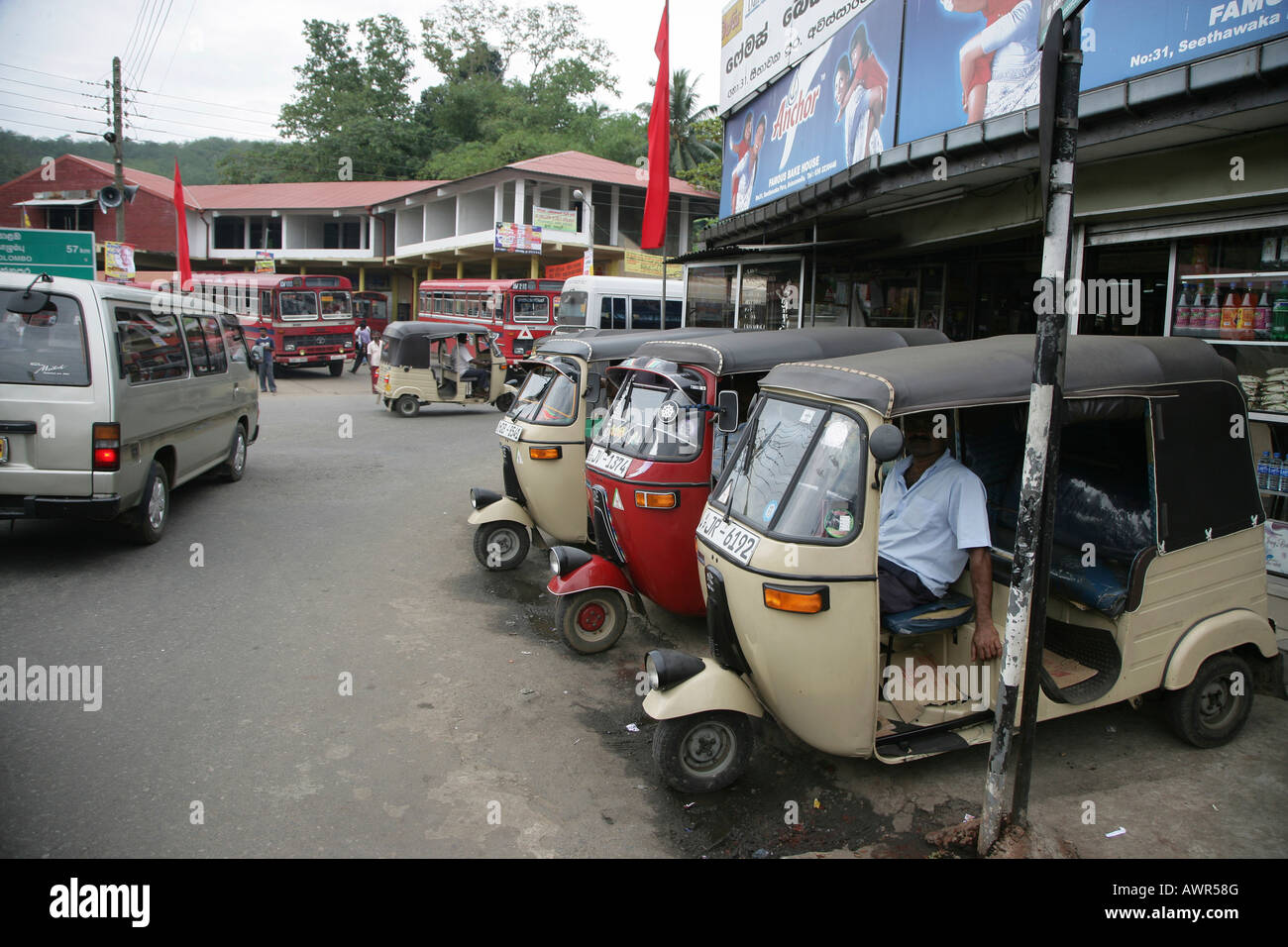 Tuc-Tuc-Taxicab in Gampara, Sri Lanka, Asia Stock Photo