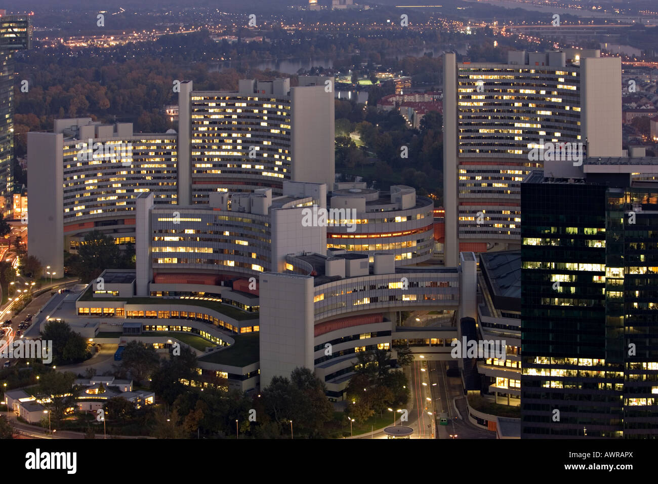 Vienna International Centre Wien United Nations - Stock Image