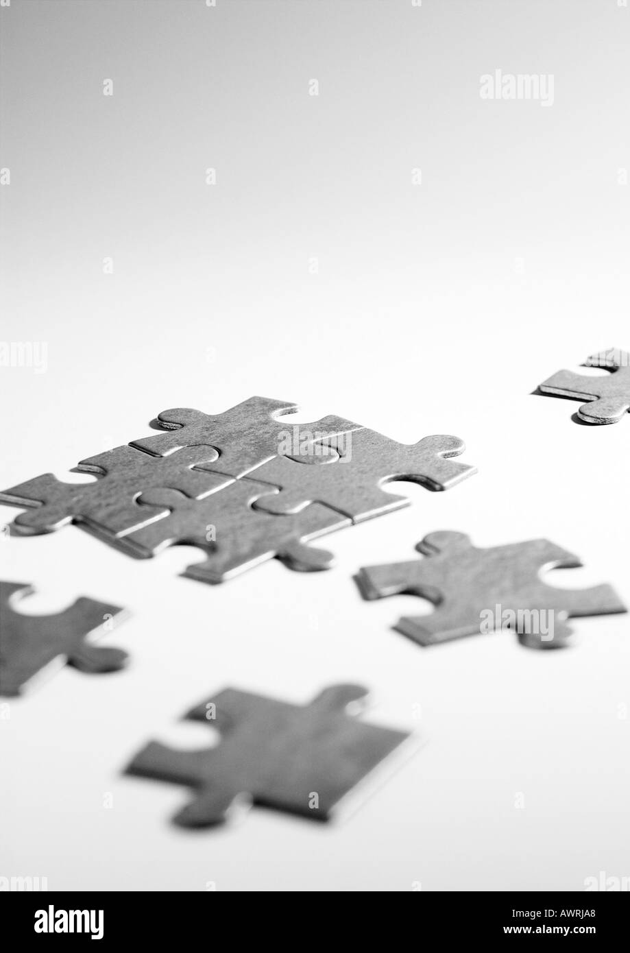 Pieces of puzzle - Stock Image