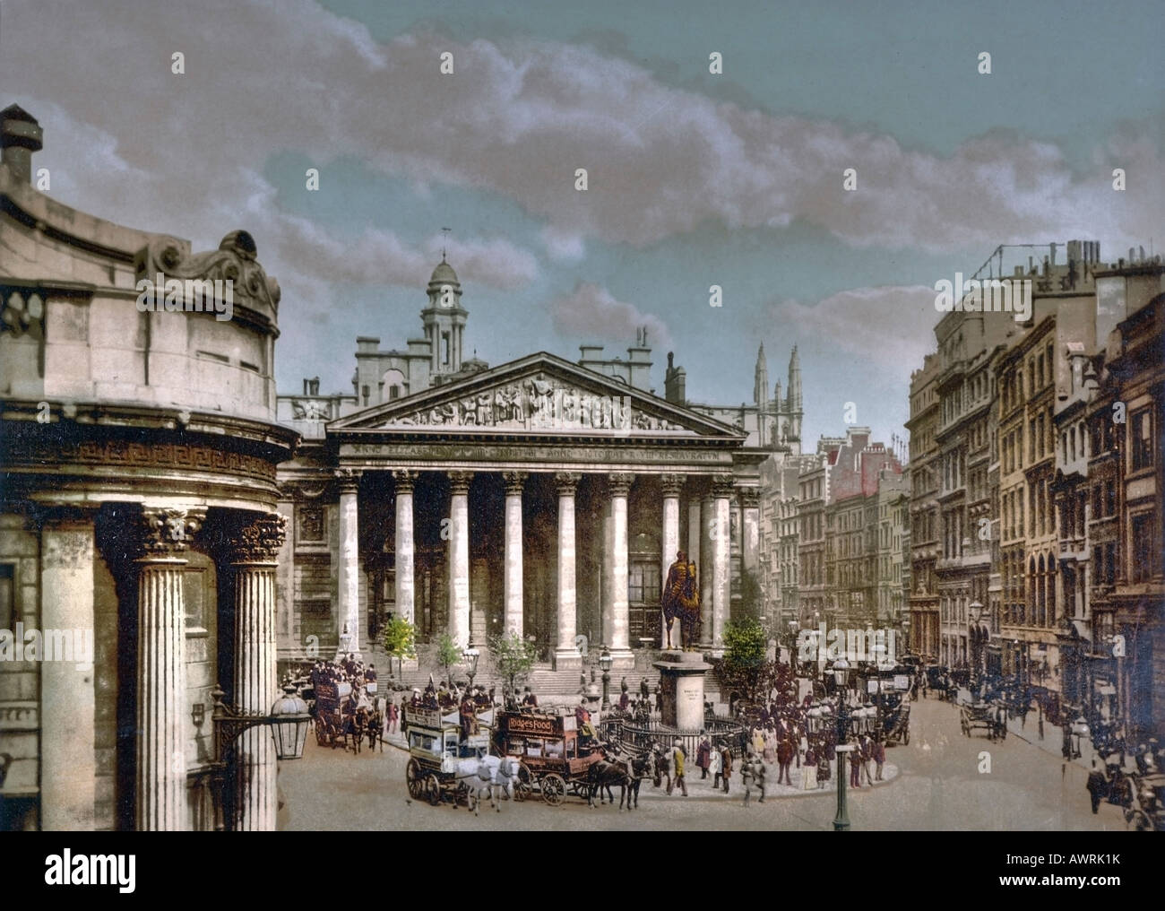 The Royal Exchange in the City of London - Stock Image
