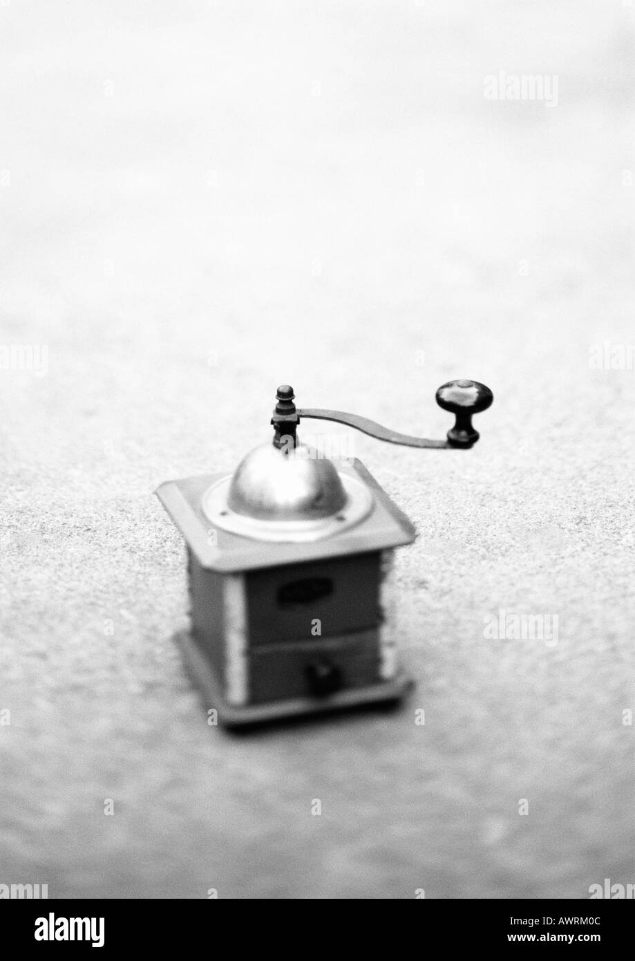 Coffee grinder, b&w. - Stock Image