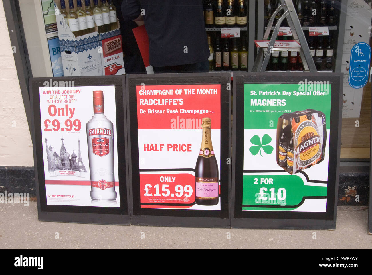 Amazing Cheap Booze Signs Outside A Uk Store