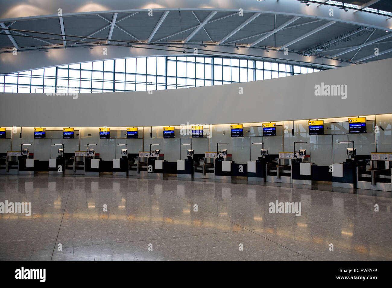 London Heathrow Airport, Terminal 5, London, England, UK - Stock Image