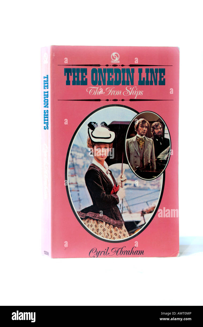 paperback book, he Onedin Line by Cyril Abraham - The Iron Ships Stock Photo