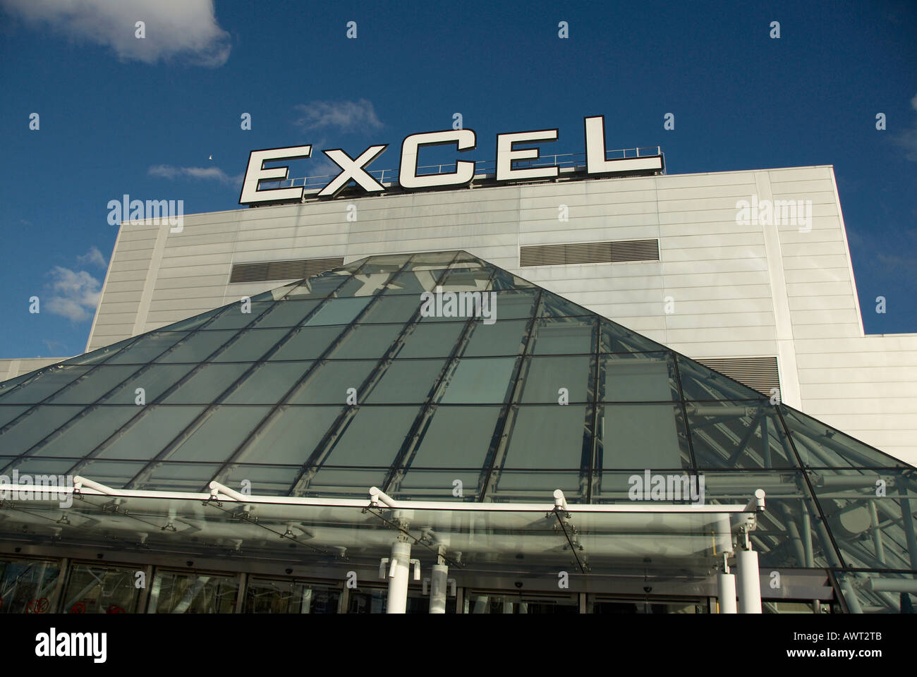 Excel exhibition and conference centre in London Docklands - Stock Image
