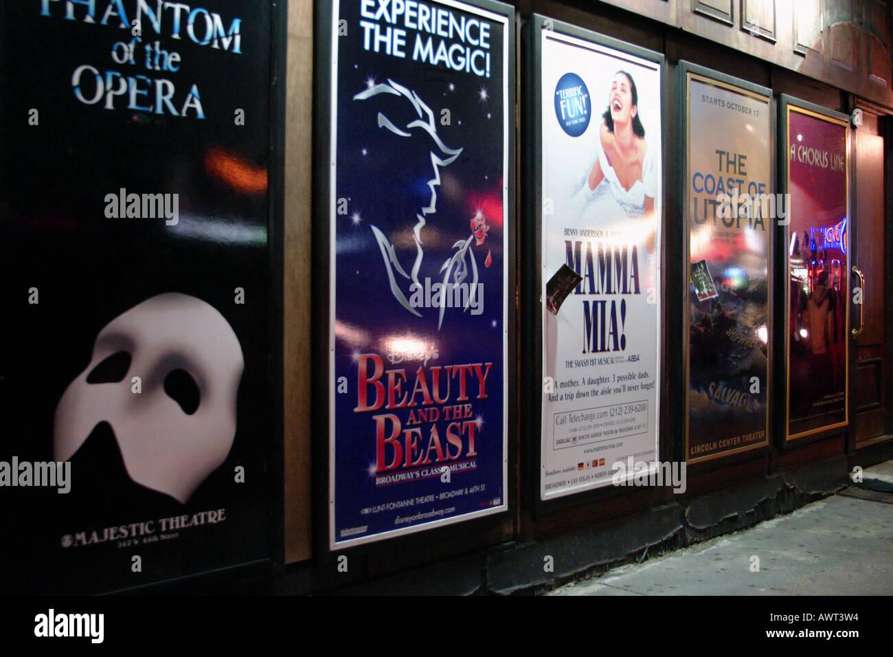Broadway Poster//Broadway at Night Poster//New York