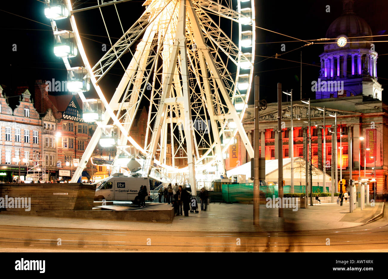 Nottingham Eye with Nottinghams Council House in the background. The Nottingham Eye market Square Nottingham UK - Stock Image