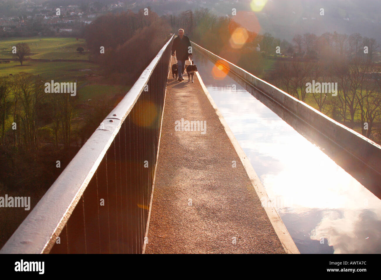 Shropshire Union Canal Aqueduct Pont Cysyllte Clwyd Wales - Stock Image