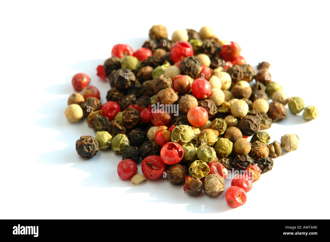 Colorful peppercorns - Stock Image