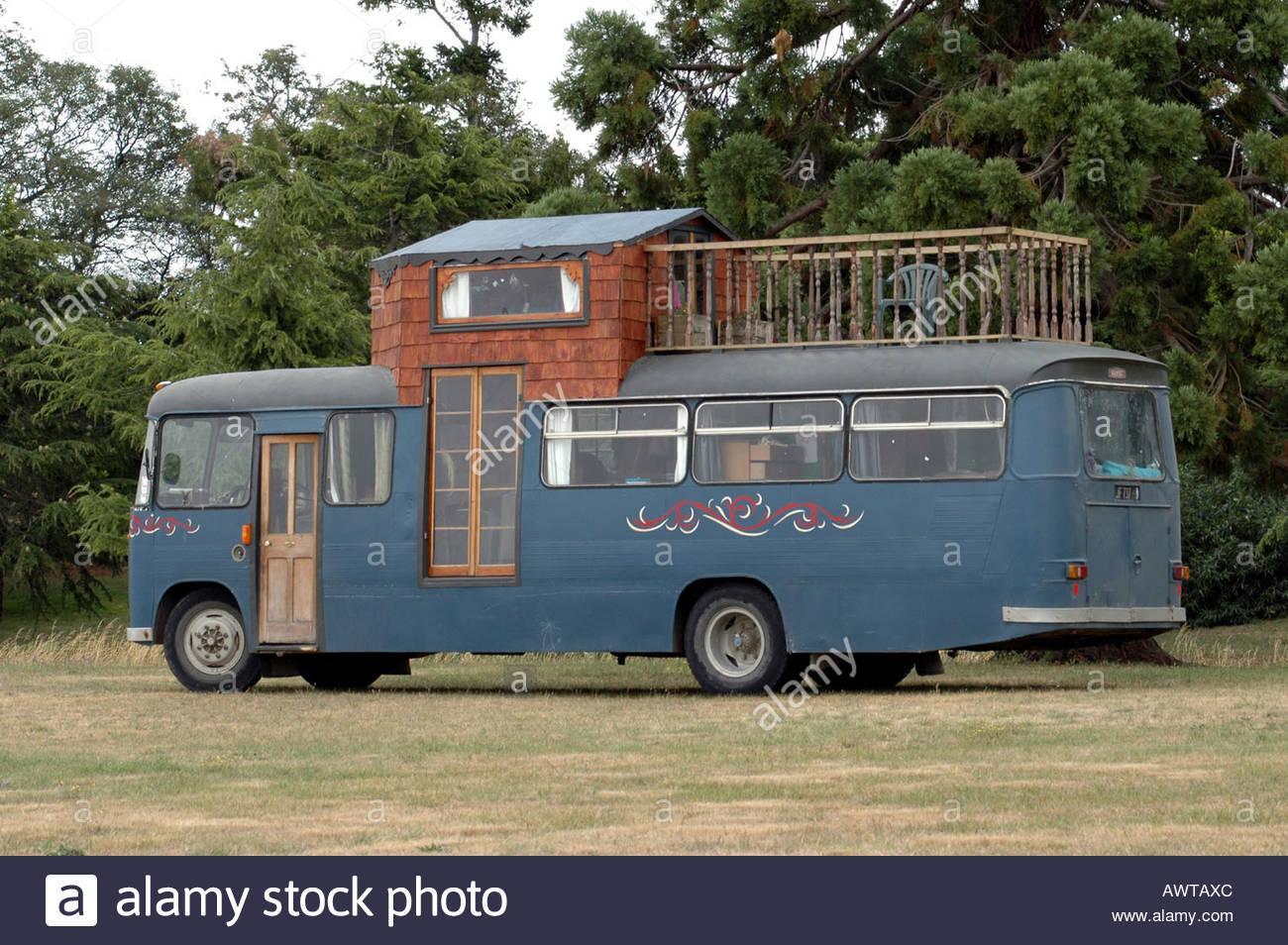 House Bus New Zealand Stock Photo: 9514027