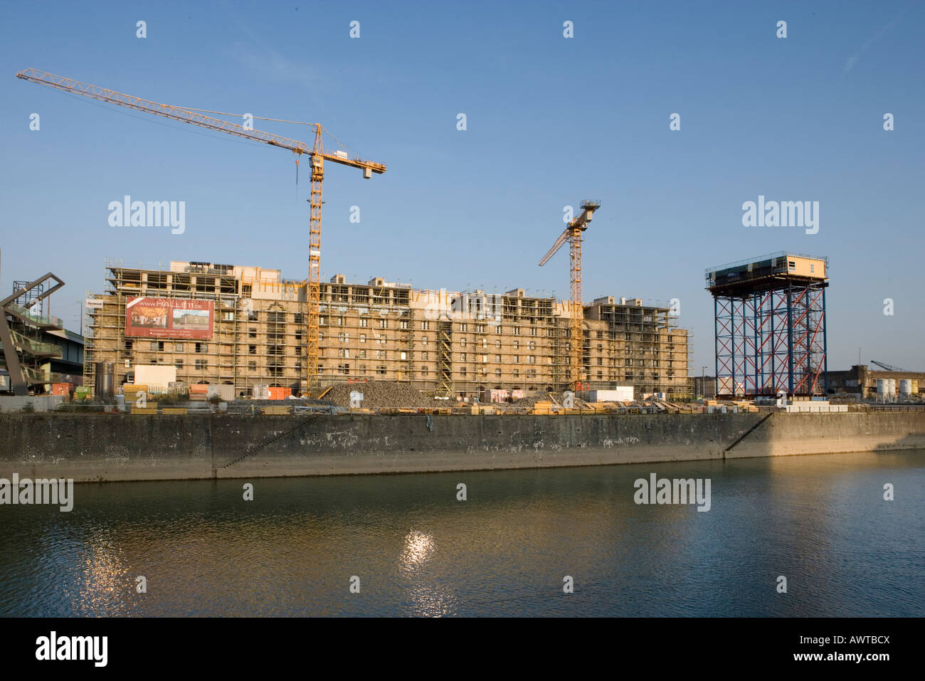 Rheinauhafen Koeln Baustelle Cologne construction site yacht port further storage town Stock Photo