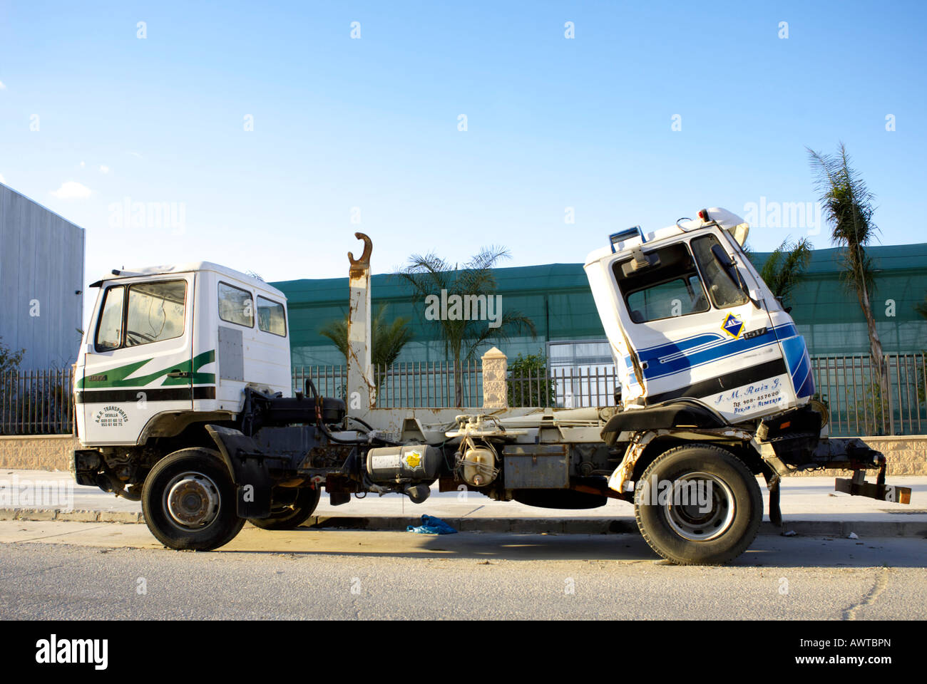 Pushmepullyou curious double ended truck - Stock Image