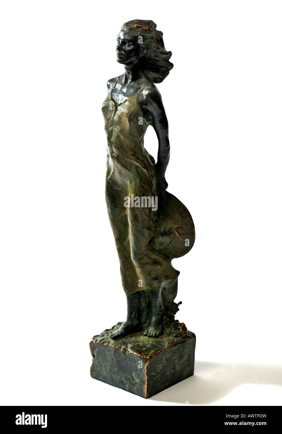 Bronze Resin Statuette Sculpture Al Viento by Miro Spanish sculptor of Barcelona Spain Limited Edition  EDITORIAL - Stock Image
