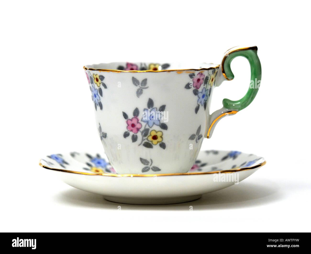 fine english bone china porcelain english ceramics coffee tea cup stock photo 16651260 alamy. Black Bedroom Furniture Sets. Home Design Ideas