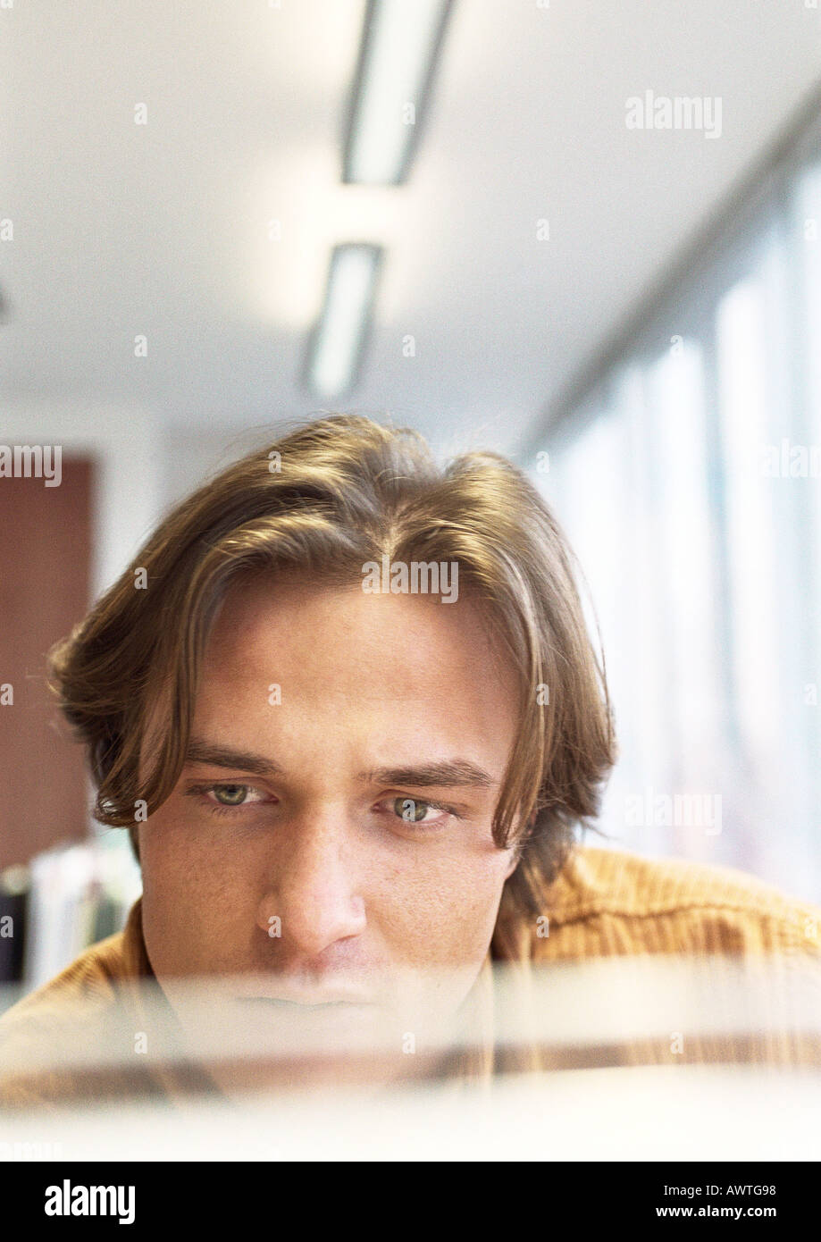 Businessman, close up. - Stock Image