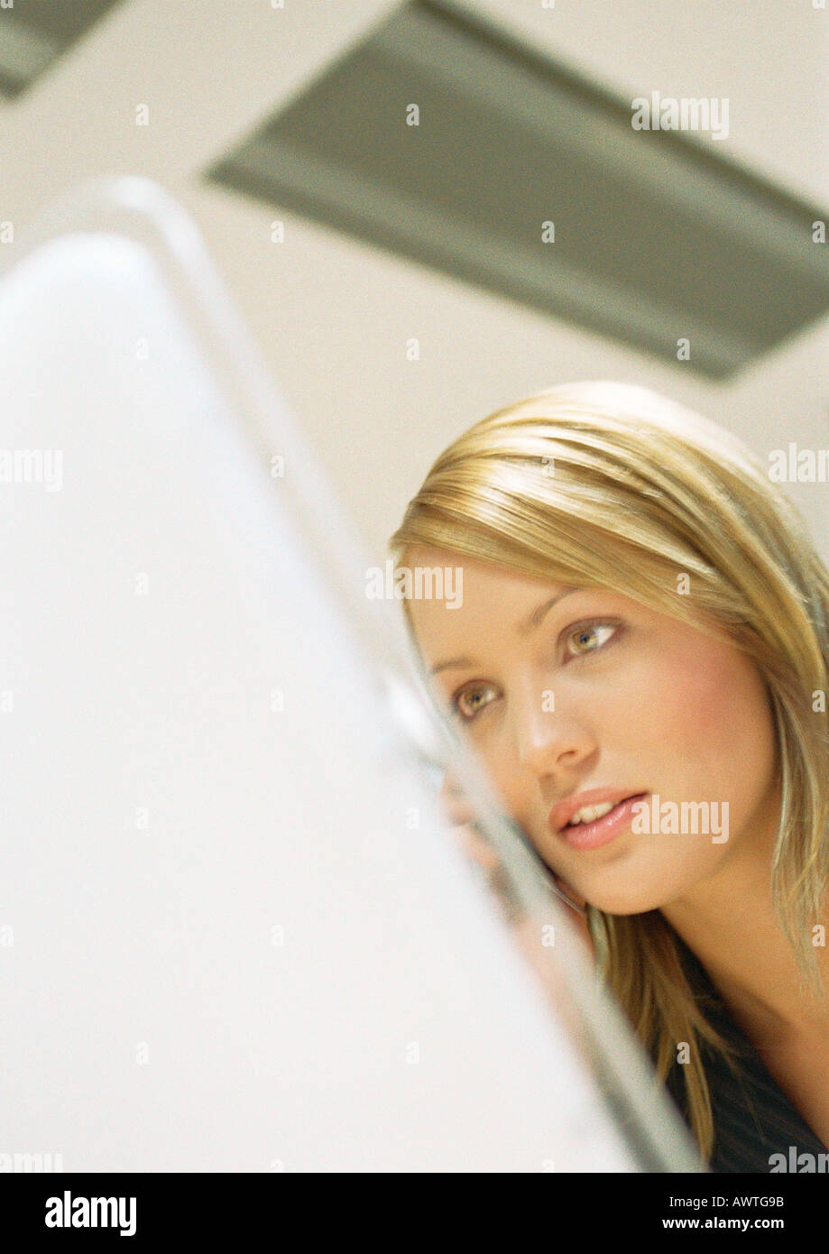 Businesswoman, close up. - Stock Image