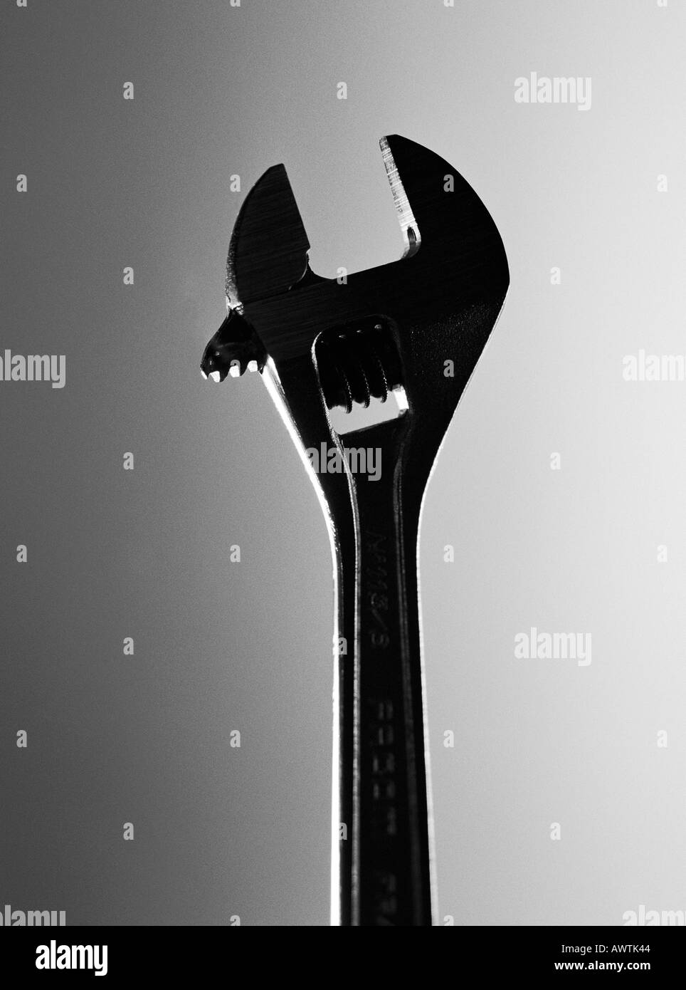 Adjustable wrench, close-up - Stock Image