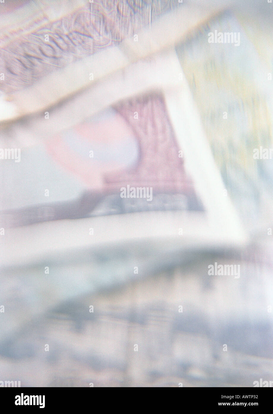 Paper currency, close-up - Stock Image