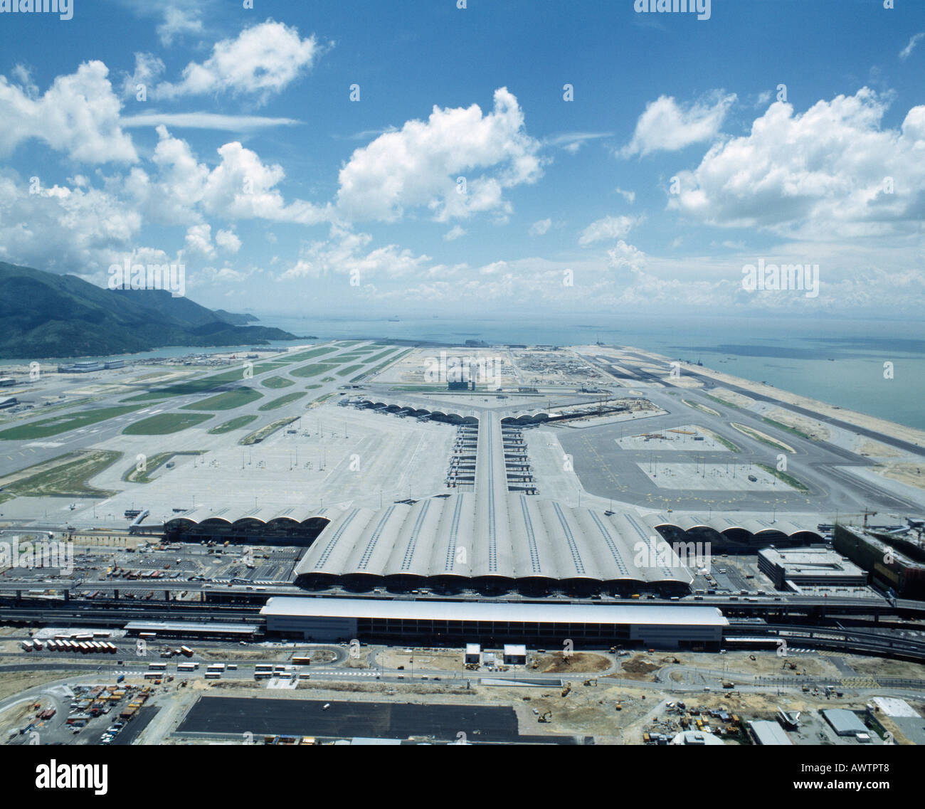 CHEK LAP KOK, HONG KONG INTERNATIONAL AIRPORT, HONG KONG, HONG KONG - Stock Image