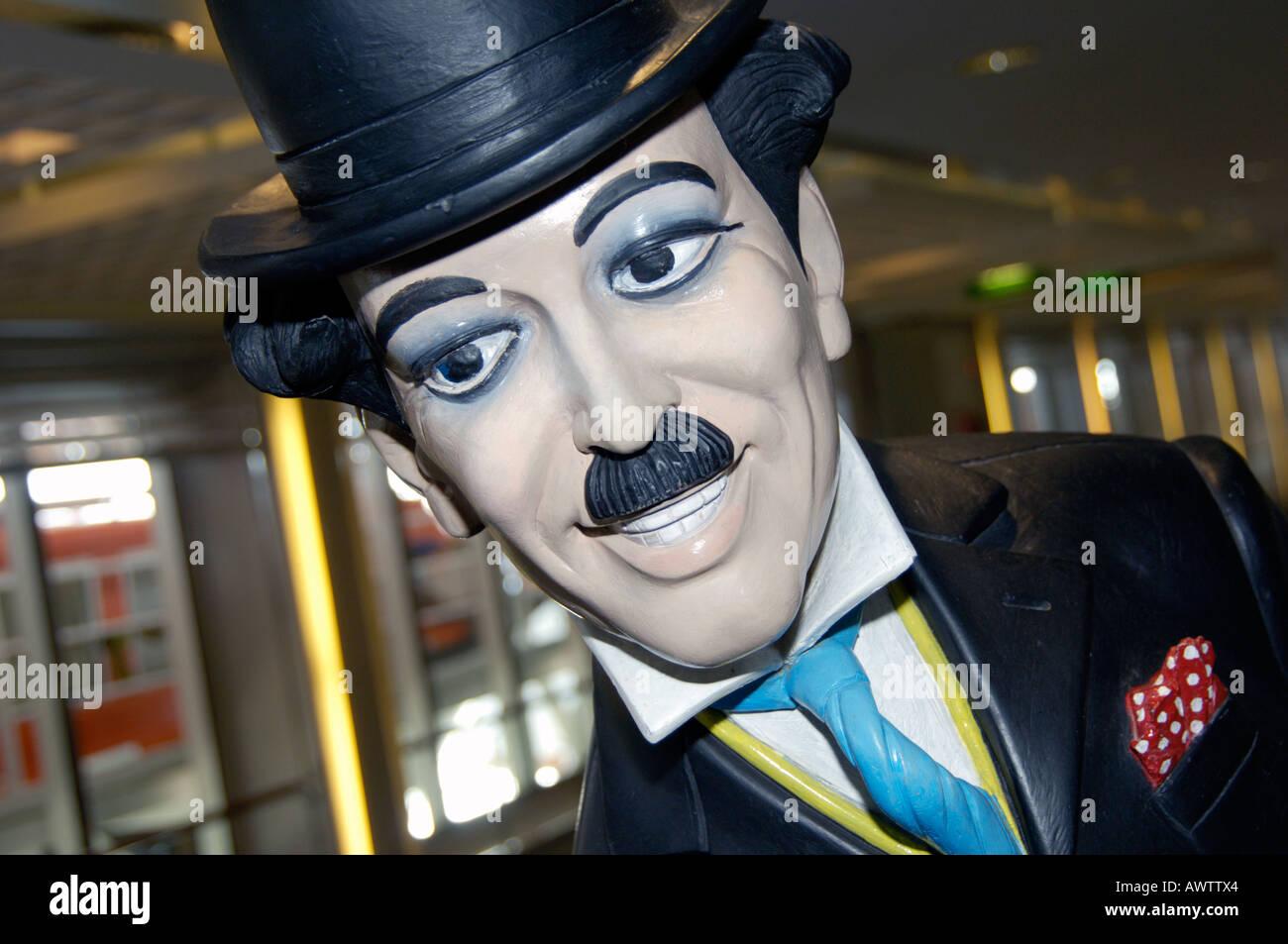 Charlie Chaplin waxwork model - Stock Image