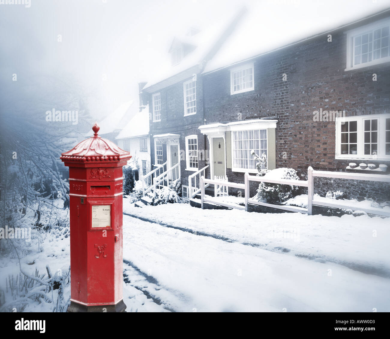 GB - BUCKINGHAMSHIRE: Church Lane in West Wycombe - Stock Image