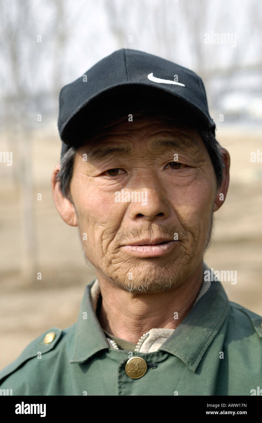 Portrait of a Chinese migrant worker. 14-Mar-2008 - Stock Image