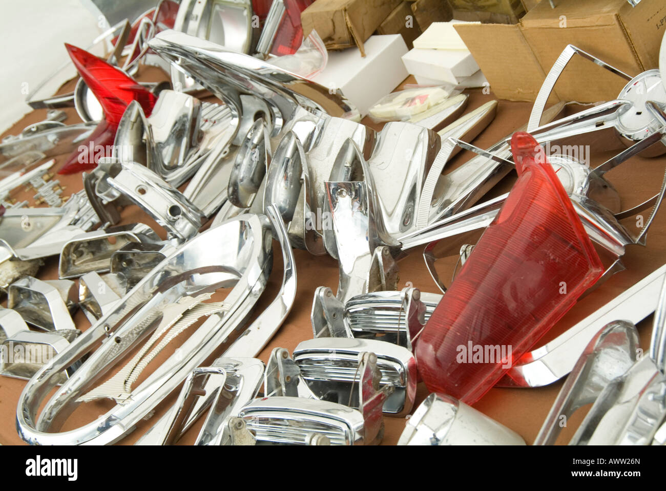 autojumble car parts car boot sale auto jumble chrome trim parts ...