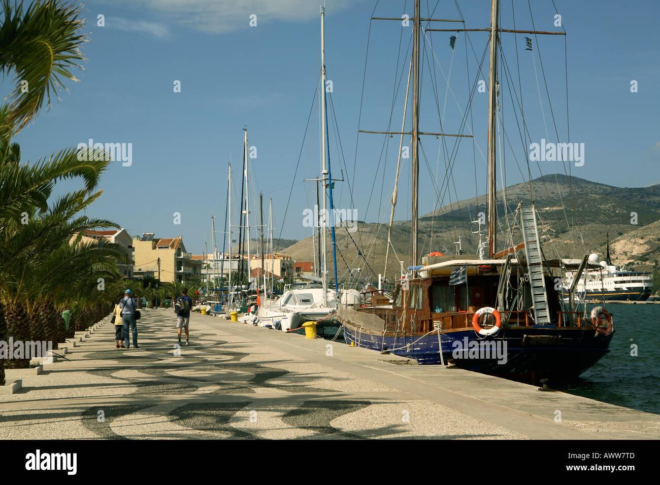 Greece. Kefallonia. Argostoli esplanade - Stock Image