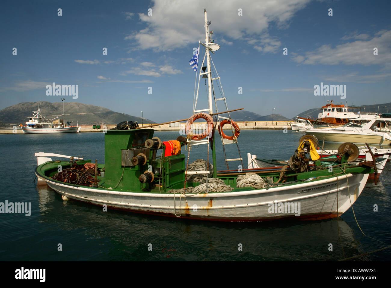 Greece. Kefallonia. Sami harbour - Stock Image