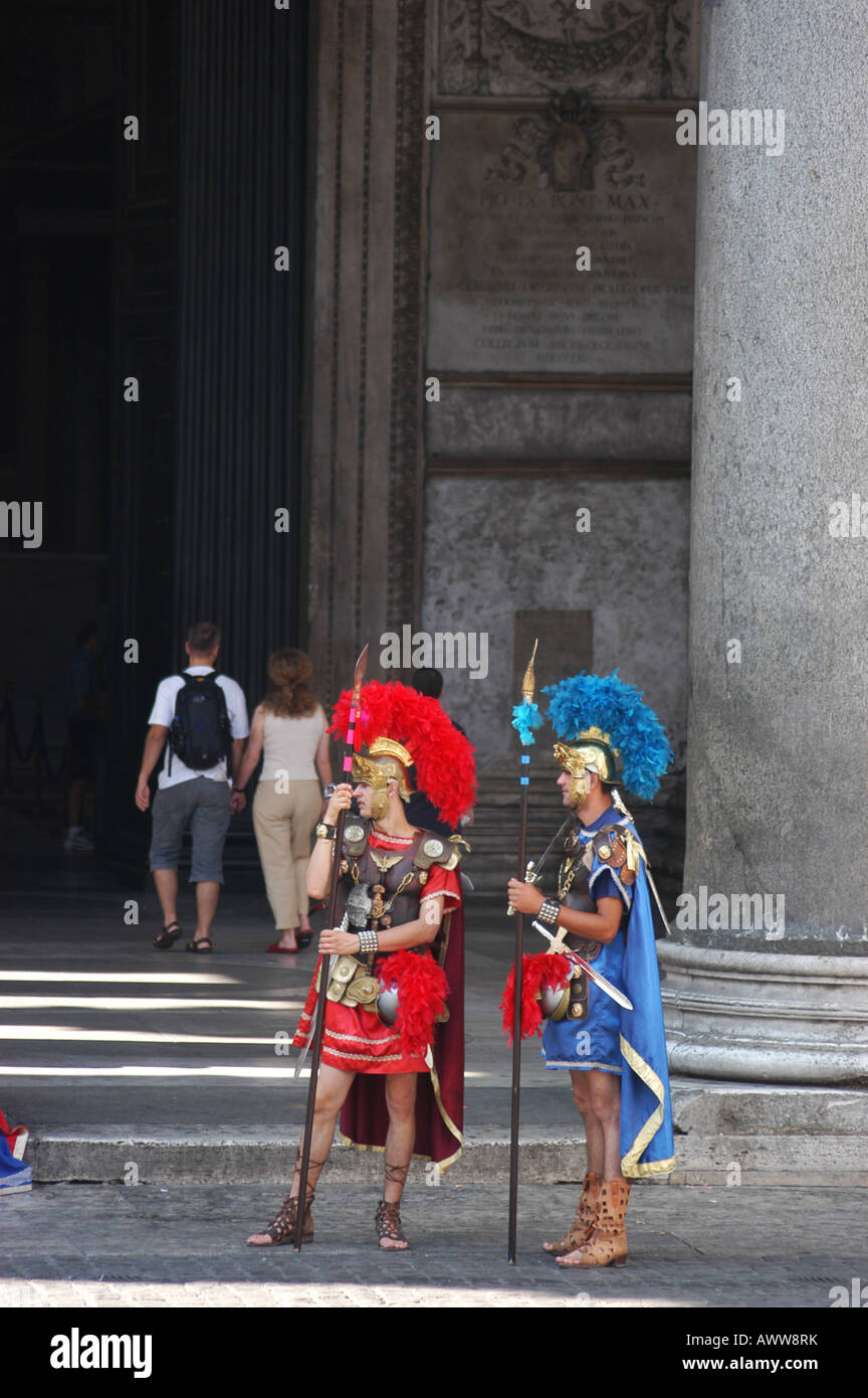 Actor front the Pantheon - Roma Lazio Italy - Stock Image
