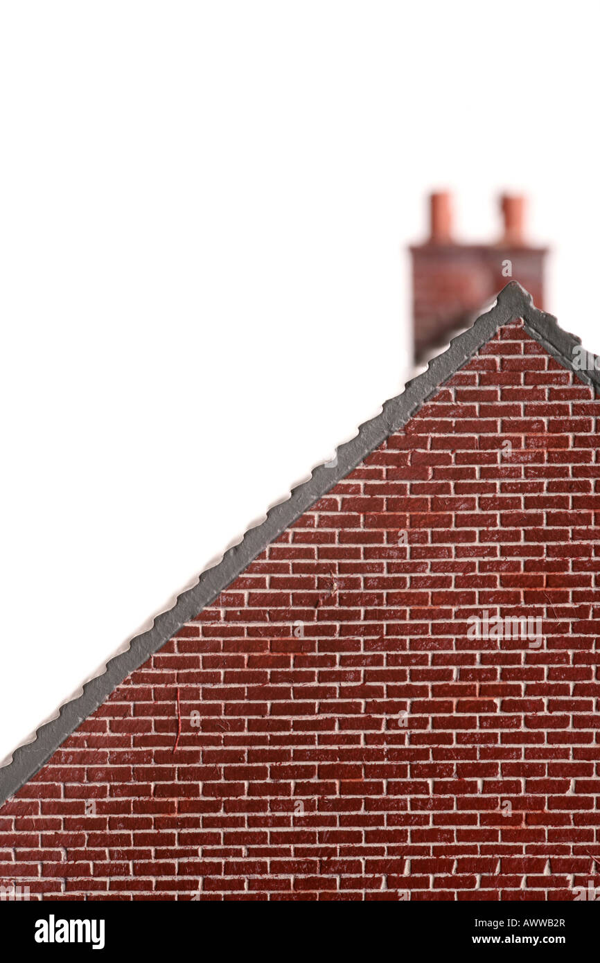 'model house gable end' - Stock Image