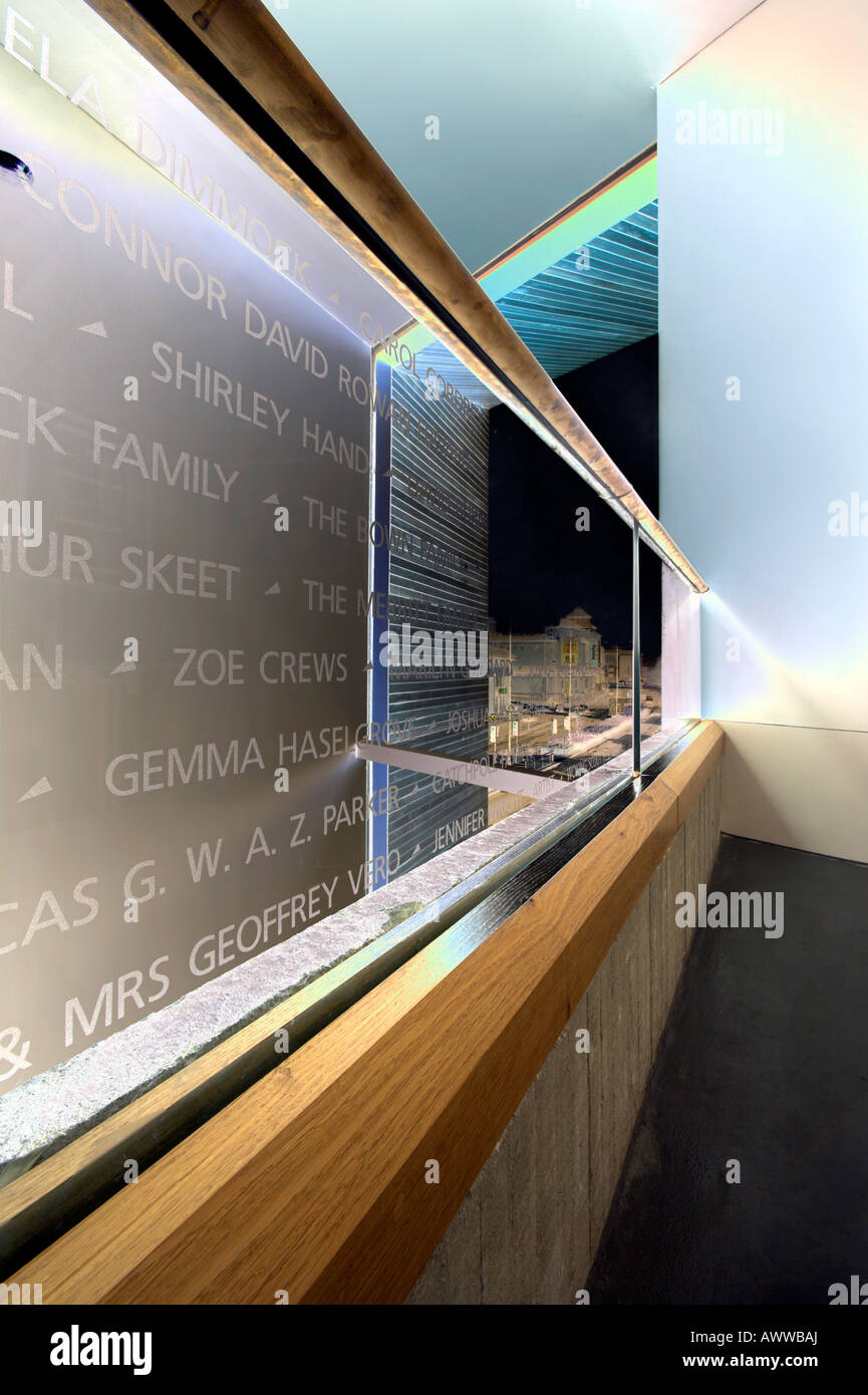 Solarised 'Names in Glass' - Stock Image